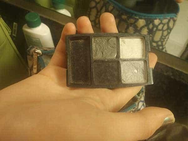 broken makeup case