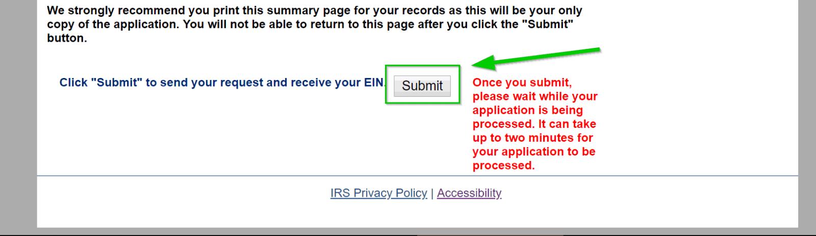 Verify EIN info